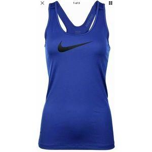 Nike Pro Womens Racerback Tank Top Sz M Blue